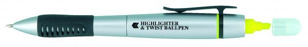 Highlighter Twist Ballpen